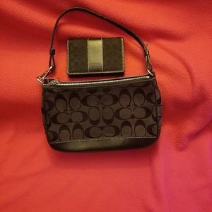 Coach signature purse with coach card ID wallet